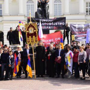 Լեհաստանի հայերի համար ամենակարևոր իրադարձություններից մեկը, դա 1915-ին տեղի ունեցած հայկական գենոցիդի հիշատակին նվիրված երթն է